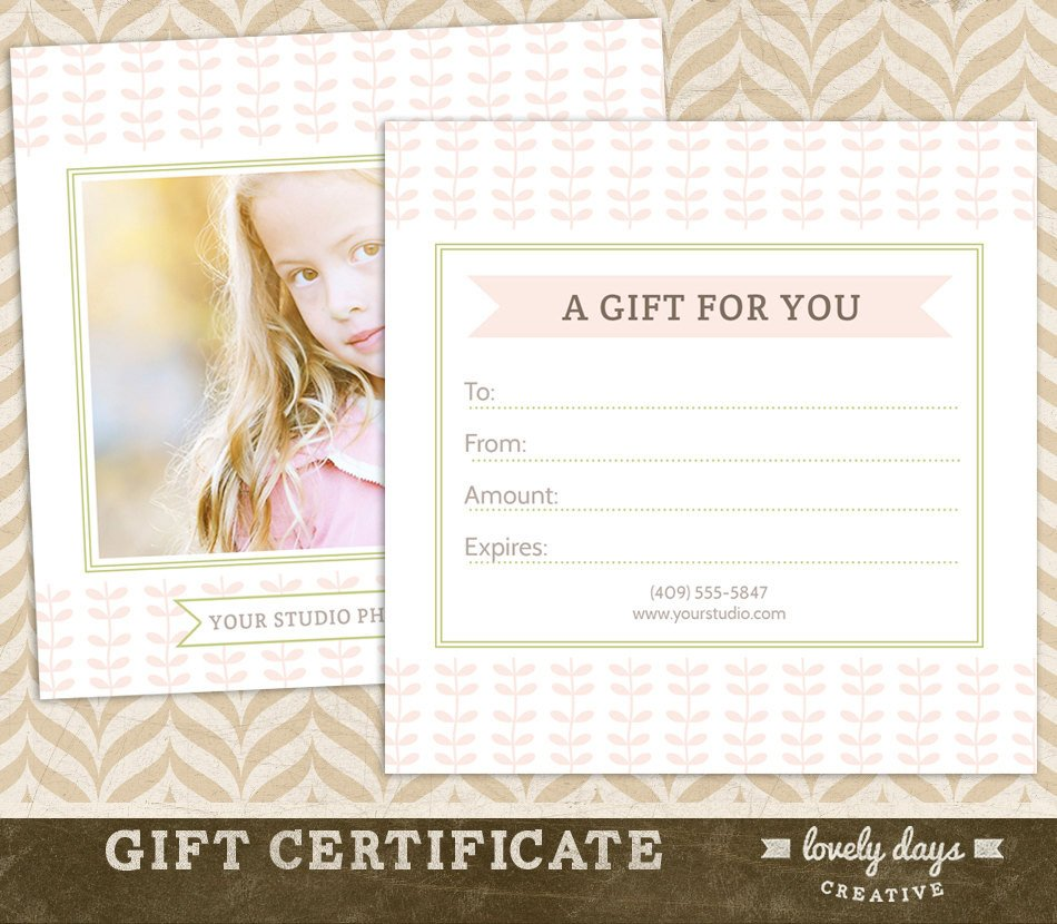 Photography Gift Certificate Template Graphy Gift Certificate Template for Professional