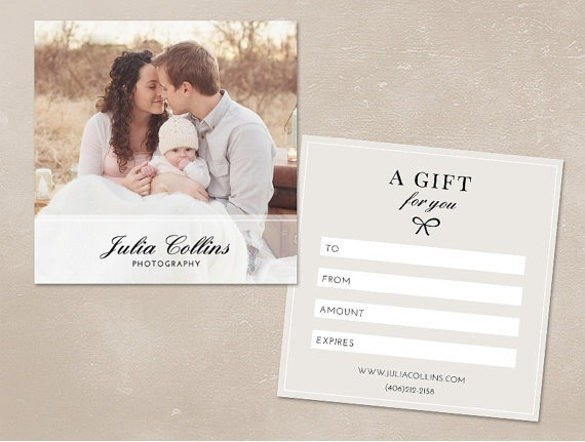 Photography Gift Certificate Template Graphy Gift Certificate Template