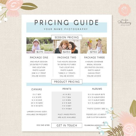 Photography Price List Template 25 Best Ideas About Graphy Price List On Pinterest