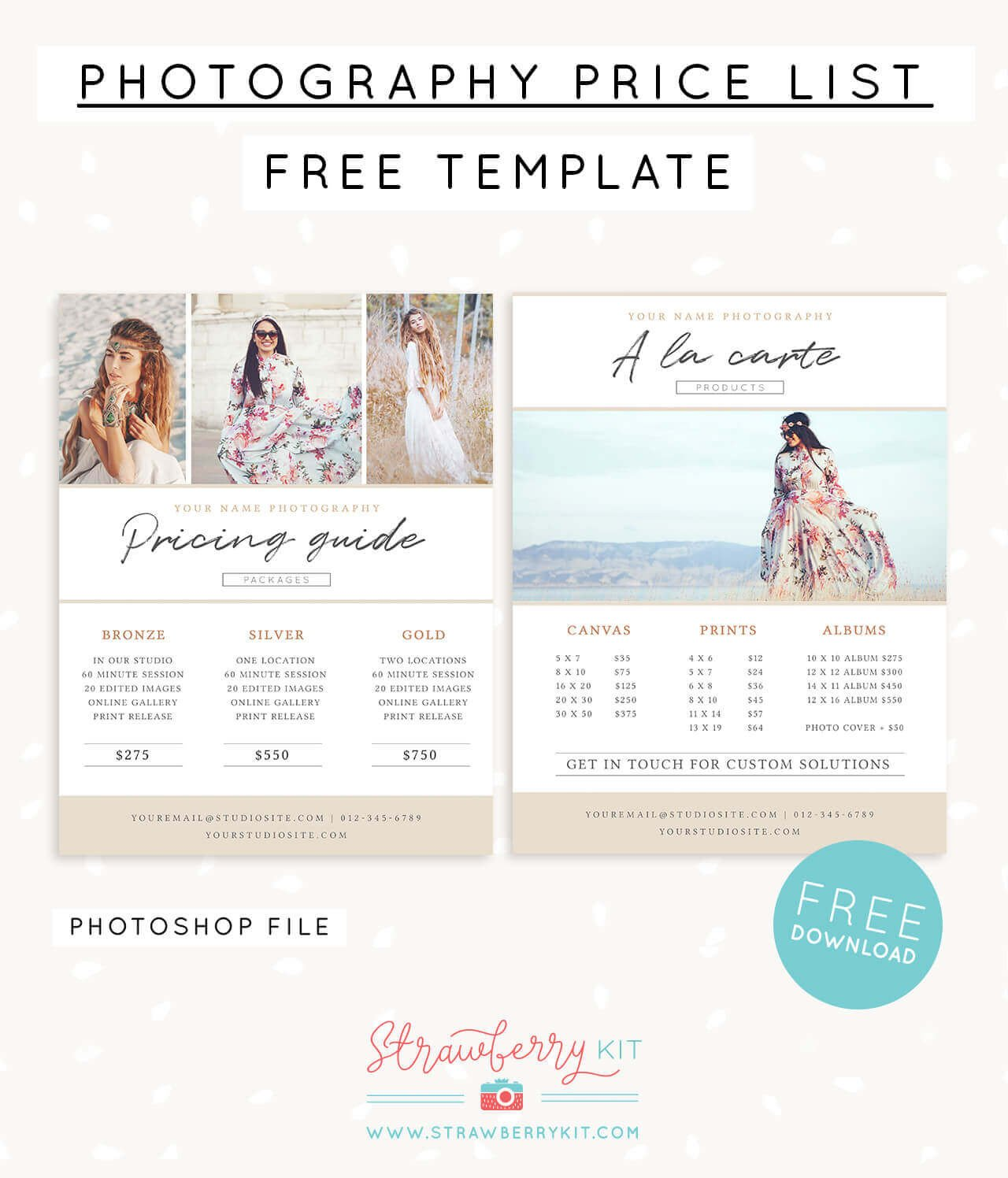 Photography Price List Template Grapher Price List Template Free