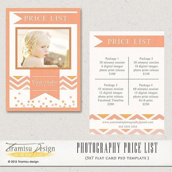 Photography Price List Template Graphy Price List Graphy Pricing Guide Price