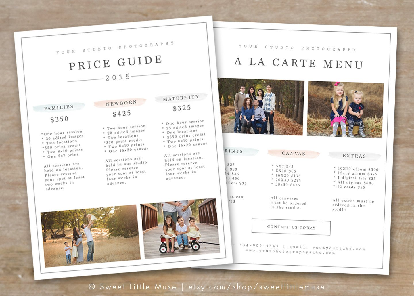 Photography Price List Template Graphy Price List Template Graphy Pricing Guide