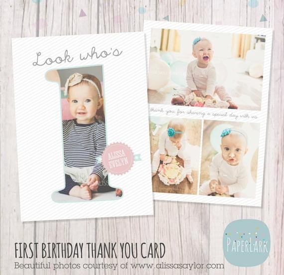 Photoshop Birthday Card Template First Birthday Card Shop Template Af001 Instant