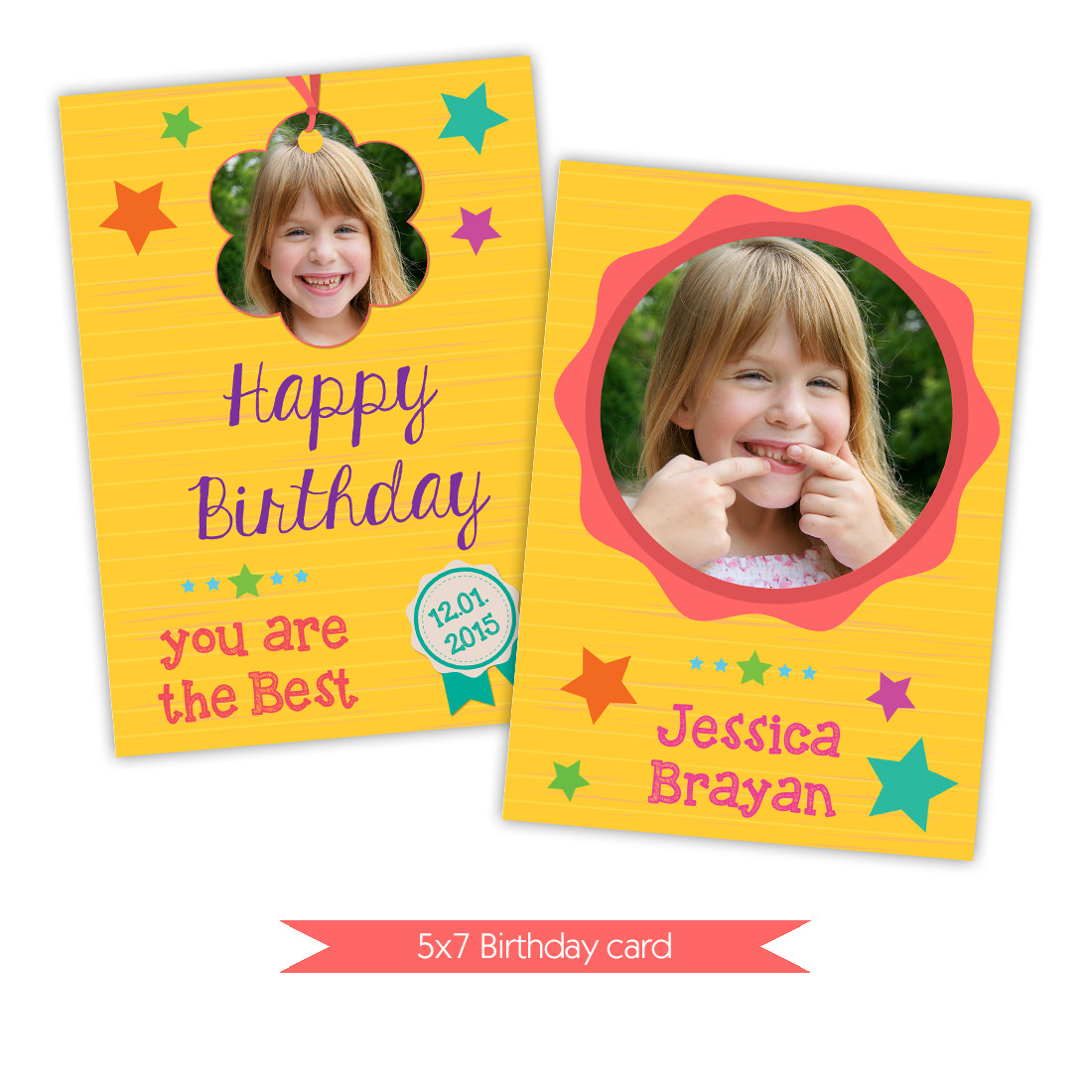Photoshop Birthday Card Template Nuwzz Happy Birthday Card Shop Template Bright Yellow