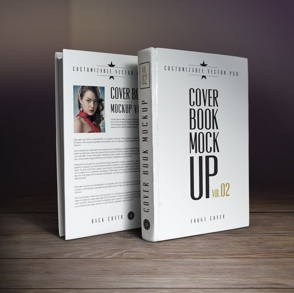 Photoshop Book Cover Template 10 Book Cover Psd Mockup Templates