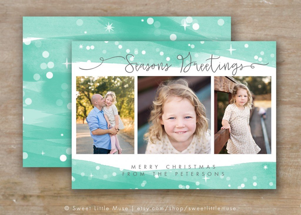 Photoshop Christmas Card Templates 30 Holiday Card Templates for Graphers to Use This