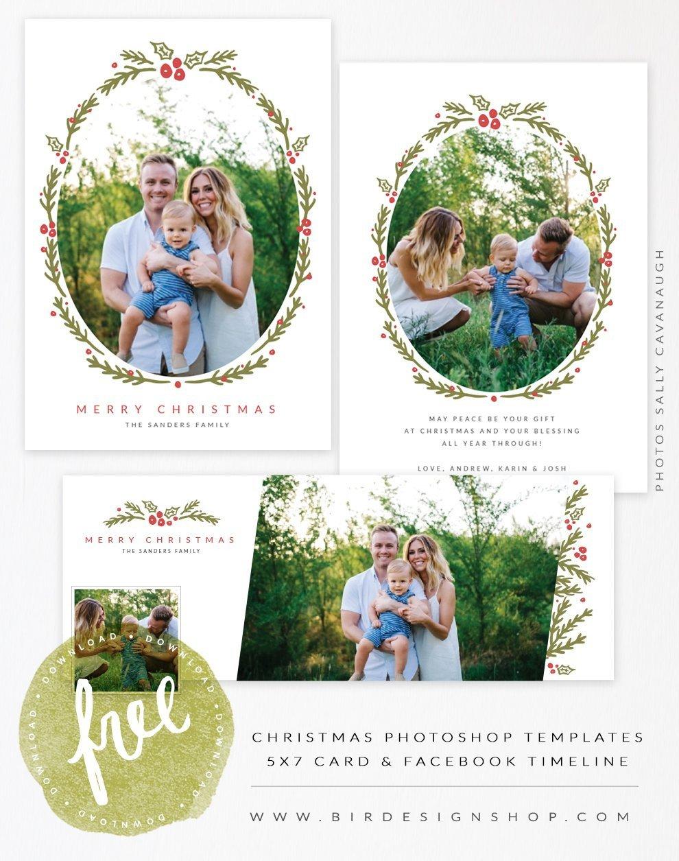 Photoshop Christmas Card Templates August Freebie Christmas Card & Fb Timeline Templates