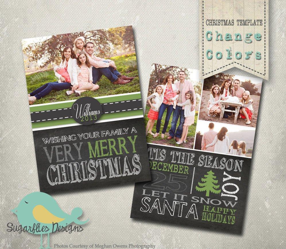 Photoshop Christmas Card Templates Christmas Card Photoshop Template Family Christmas Card