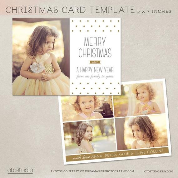 Photoshop Christmas Card Templates Digital Shop Christmas Card Template for Photographers