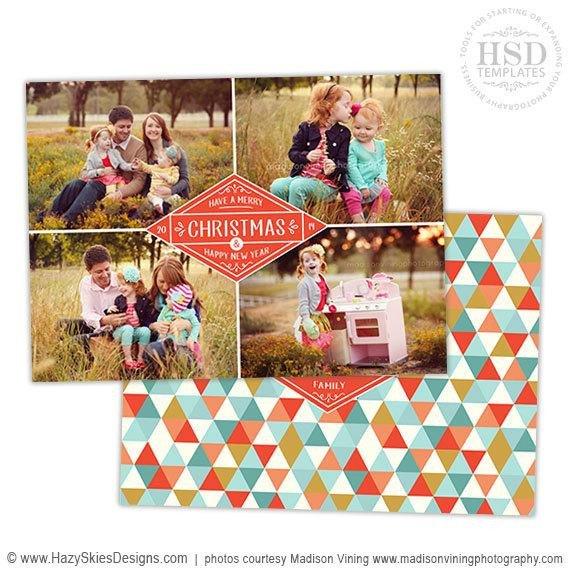 Photoshop Christmas Card Templates Items Similar to Christmas Card Template for Graphers