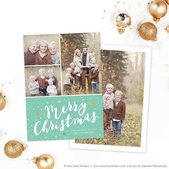 Photoshop Christmas Card Templates Items Similar to Christmas Card Template for Shop