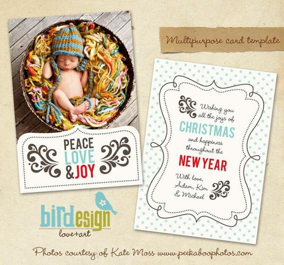 Photoshop Christmas Card Templates Items Similar to Instant Download Shop Christmas