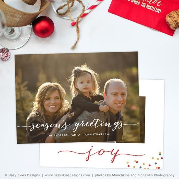 Photoshop Greeting Card Template Holiday Card Template