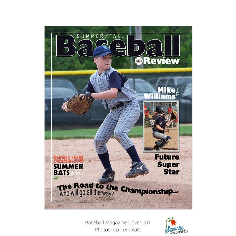 Photoshop Magazine Cover Template Baseball Magazine Cover Shop Template