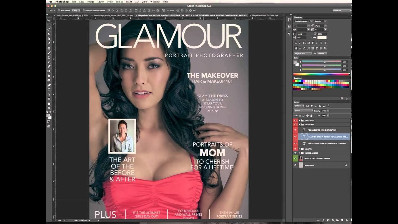 Photoshop Magazine Cover Template Designing & Editing A Magazine Cover In Shop