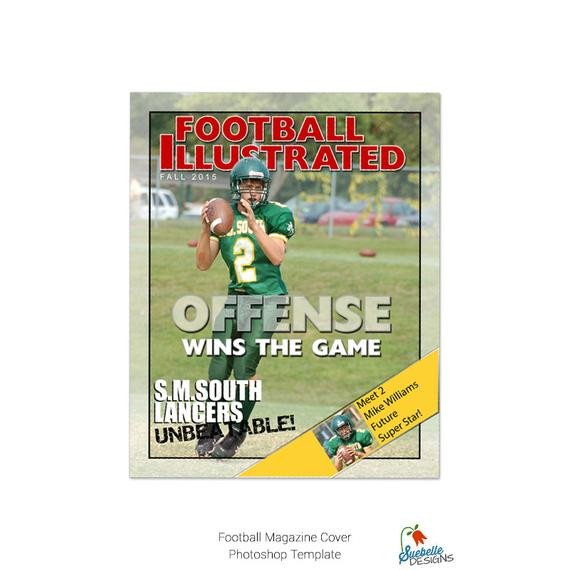 Photoshop Magazine Cover Template Football Magazine Cover Shop Template