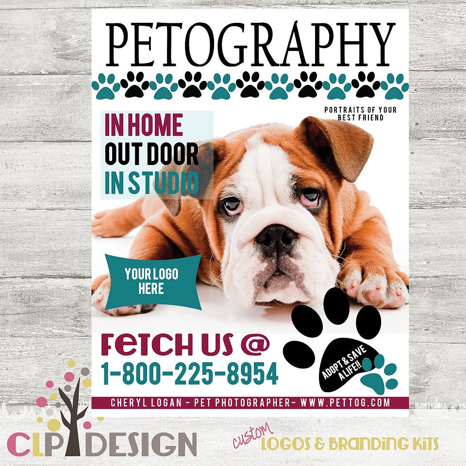Photoshop Magazine Cover Template Pet Graphy Magazine Cover Template Shop by Clpdesign