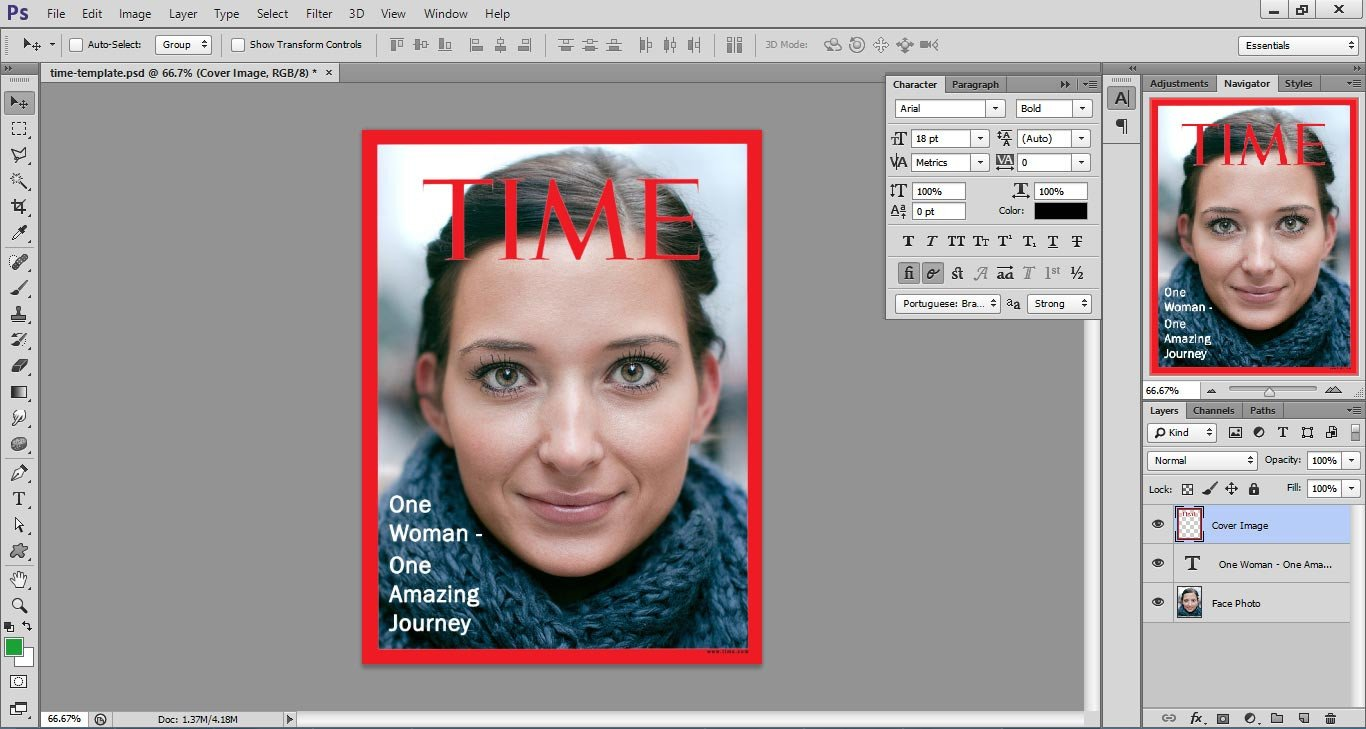 Photoshop Magazine Cover Template Time Magazine Cover Template D Webdesignlike