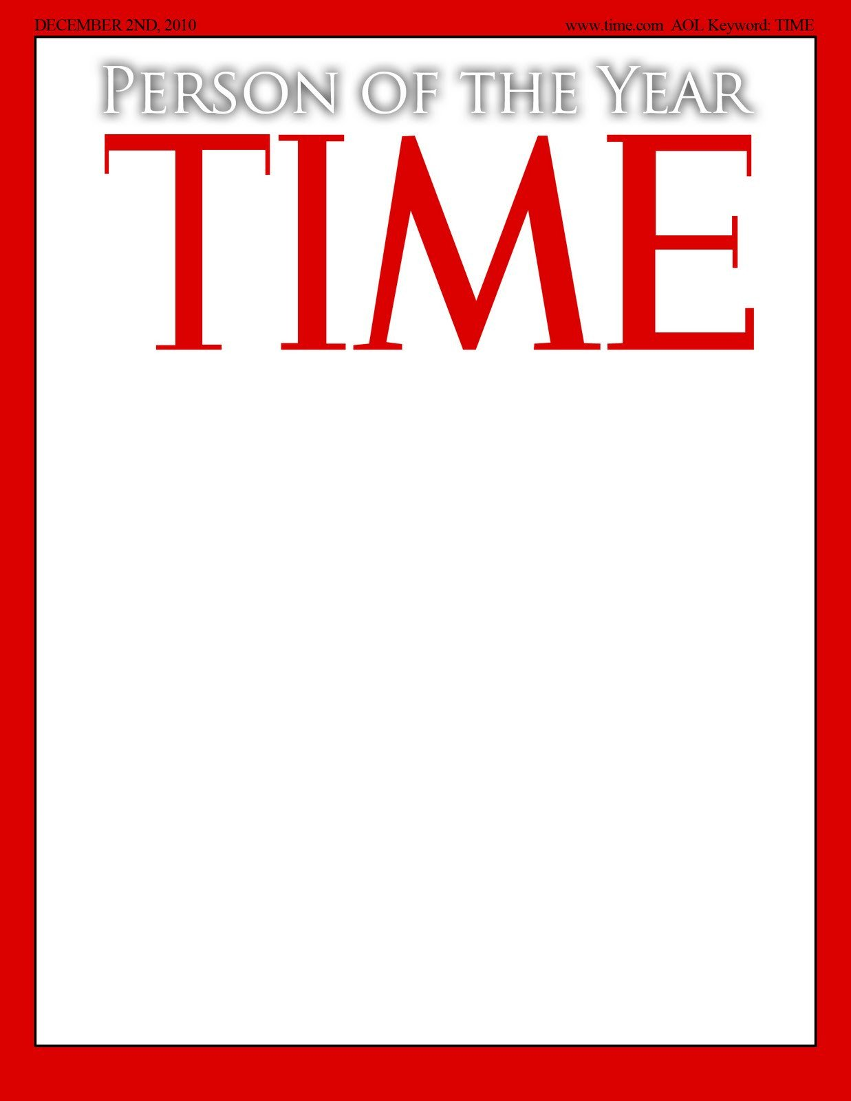 Photoshop Magazine Cover Template Time Magazine Template
