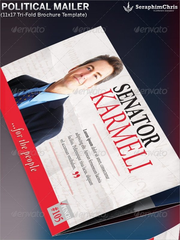 Photoshop Tri Fold Brochure Template 12 Political Brochures Psd Vector Eps format Download
