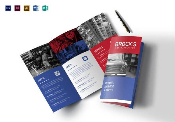 Photoshop Tri Fold Brochure Template 17 Automotive Brochure Templates Word Pdf Ai Apple