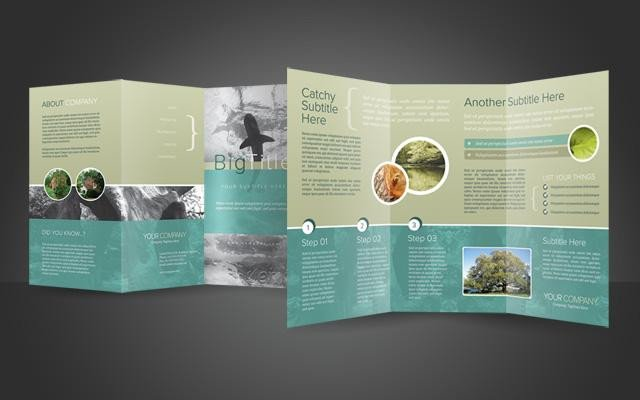 Photoshop Tri Fold Brochure Template 40 Best Corporate Brochure Print Templates Of 2013