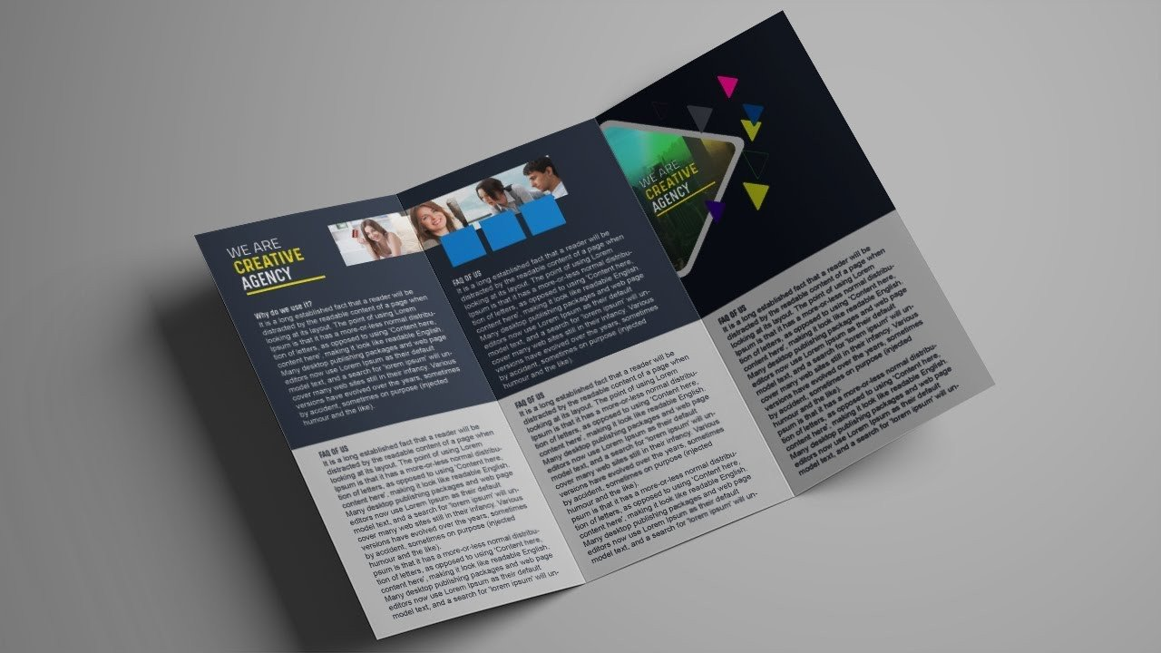 Photoshop Tri Fold Brochure Template How to Design A Tri Fold Brochure Template Shop