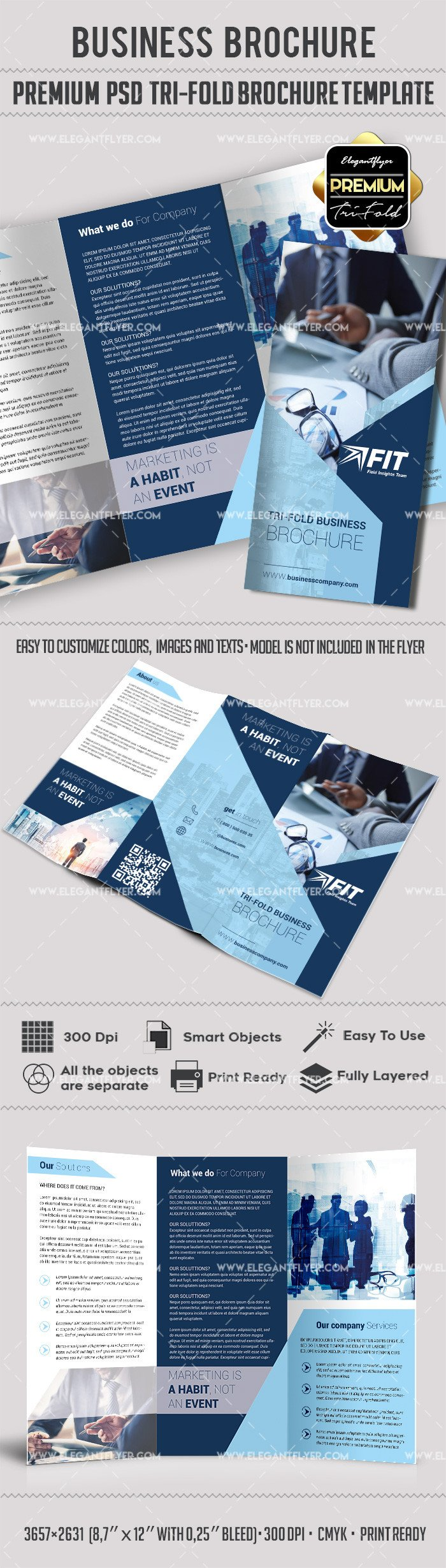 Photoshop Tri Fold Brochure Template Shop Brochure Template – by Elegantflyer