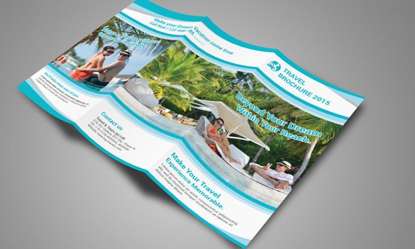 Photoshop Tri Fold Brochure Template Travel Brochure Templates 21 Download In Psd Vector
