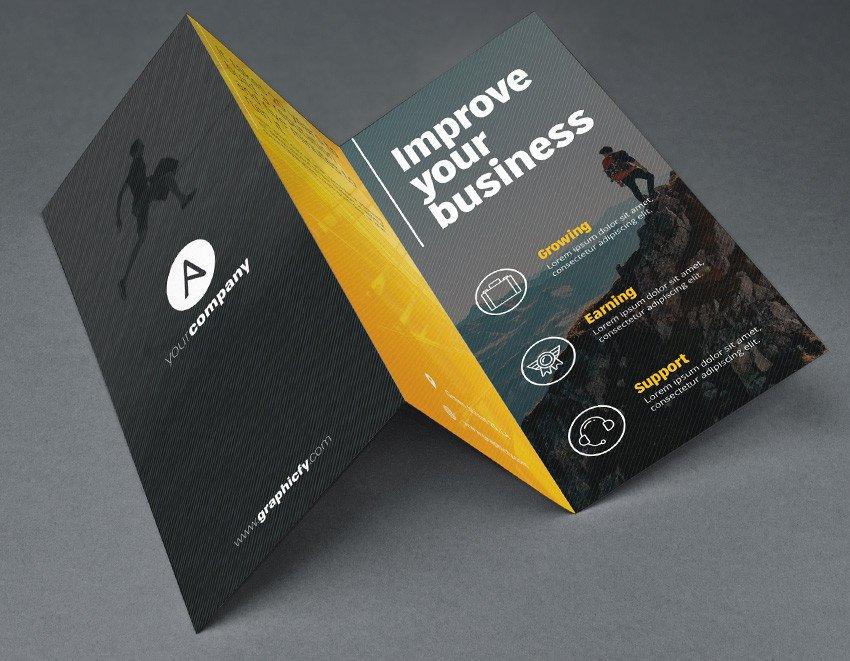 Photoshop Tri Fold Brochure Template Tri Fold Brochure Template Psd Brochure Templates
