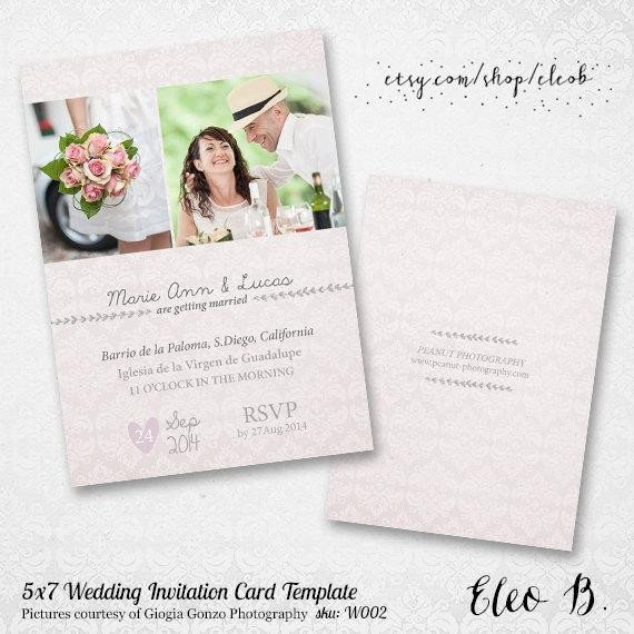 Photoshop Wedding Invitation Templates 5x7 Wedding Invitation Template Shop Wedding