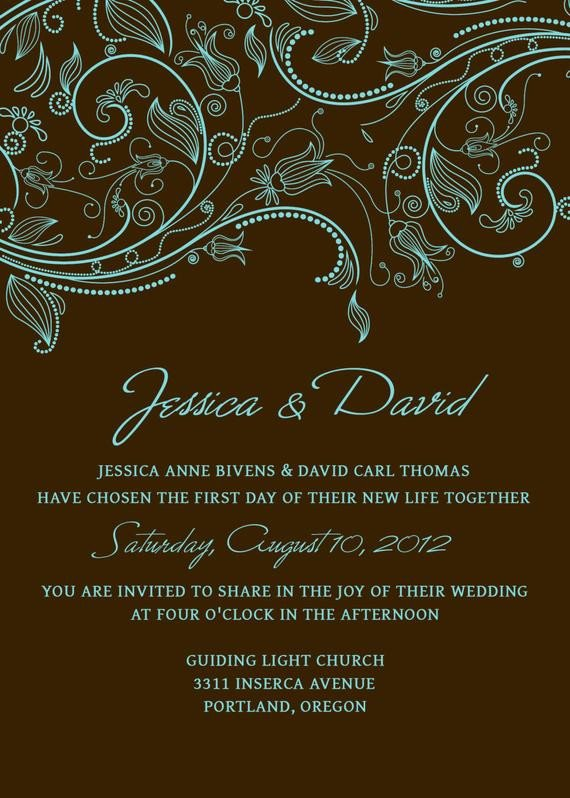 Photoshop Wedding Invitation Templates Items Similar to Wedding Invitation Set Of Templates Psd