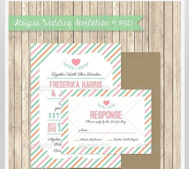 Photoshop Wedding Invitation Templates Marriage Invitation Model Psd