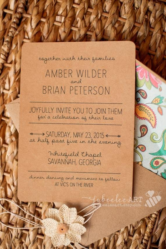 Photoshop Wedding Invitation Templates Rustic Hand Lettered Shop Template Wedding Invitation