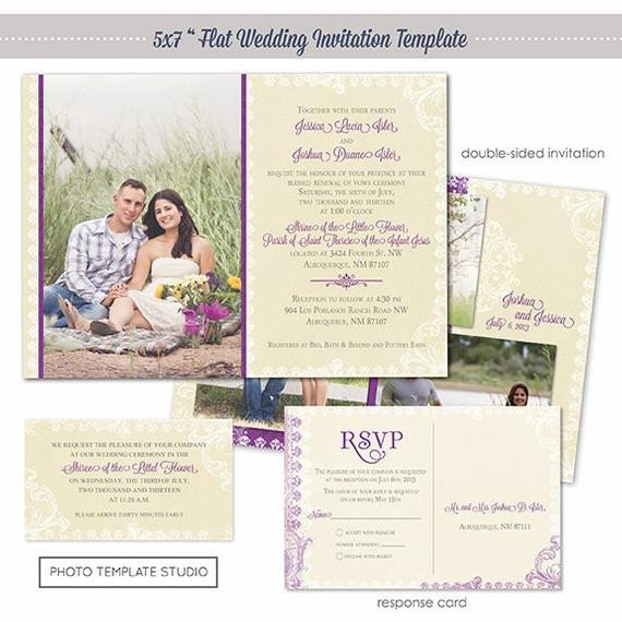 Photoshop Wedding Invitation Templates Shop Template Classic Vintage Wedding Invitation