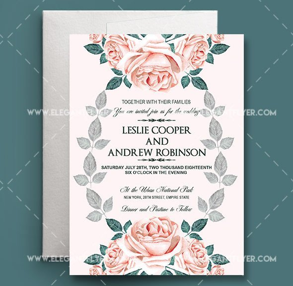 Photoshop Wedding Invitation Templates Wedding Invitation Templates Shop 655