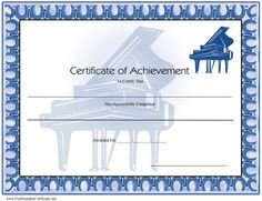 Piano Recital Certificate Template 1000 Images About Piano On Pinterest