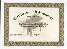 Piano Recital Certificate Template Amazon Music Treasures Piano Achievement Certificate