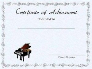 Piano Recital Certificate Template Free Editable Printable Piano Achievement Certificate