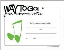 Piano Recital Certificate Template Free Printable General Music Award Certificates