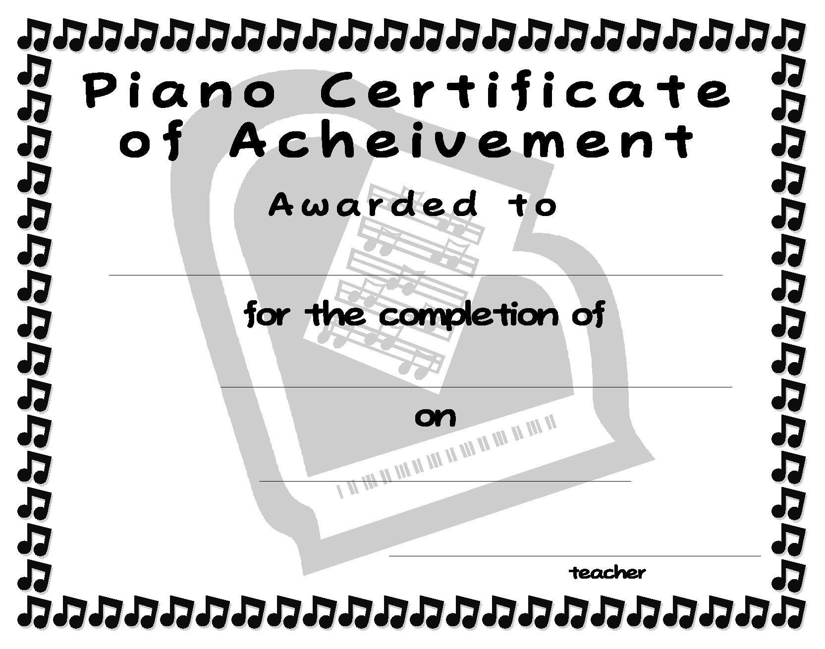 Piano Recital Certificate Template Index Of User Cimage
