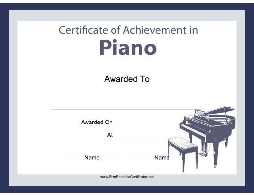 Piano Recital Certificate Template Pianists organists and Keyboard Players Will All Enjoy