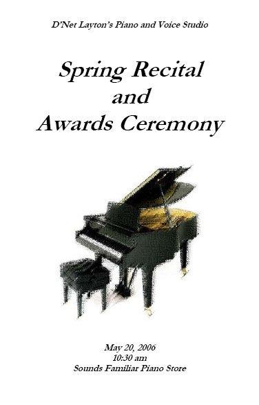 Piano Recital Certificate Template Recital Program Templates