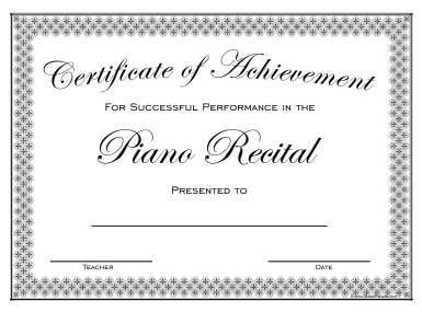 Piano Recital Certificate Template top 25 Ideas About Piano Recital On Pinterest
