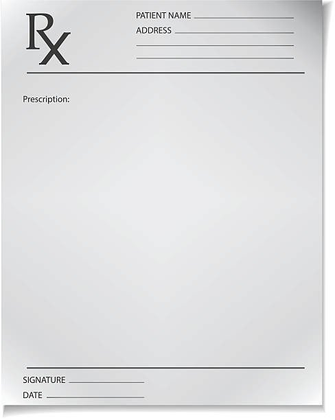 Picture Of Prescription Pad Best Rx Illustrations Royalty Free Vector Graphics & Clip