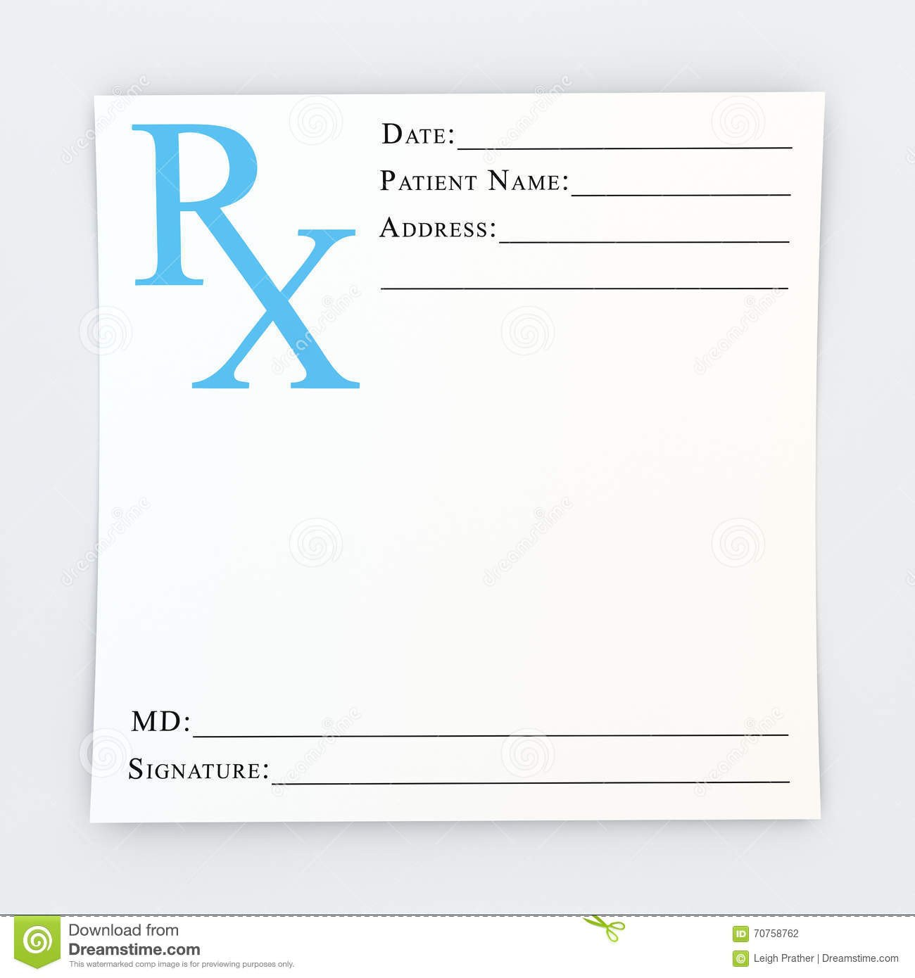 Picture Of Prescription Pad Blank Prescription Stock Illustration Illustration Of