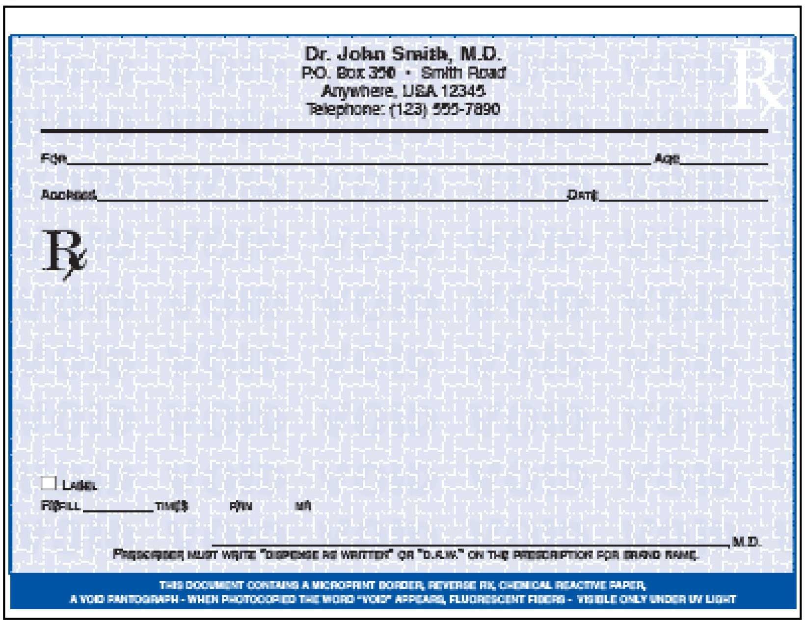Picture Of Prescription Pad October 2014