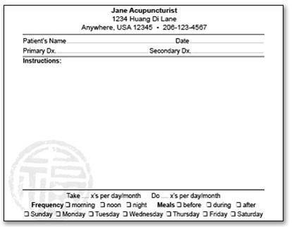 Picture Of Prescription Pad Prescription Pad – Acupuncture Media Works