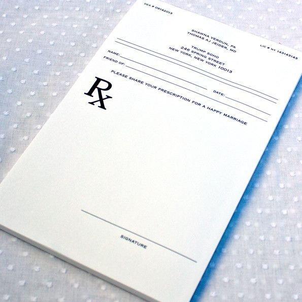 Picture Of Prescription Pad Prescription Pad Guest Book