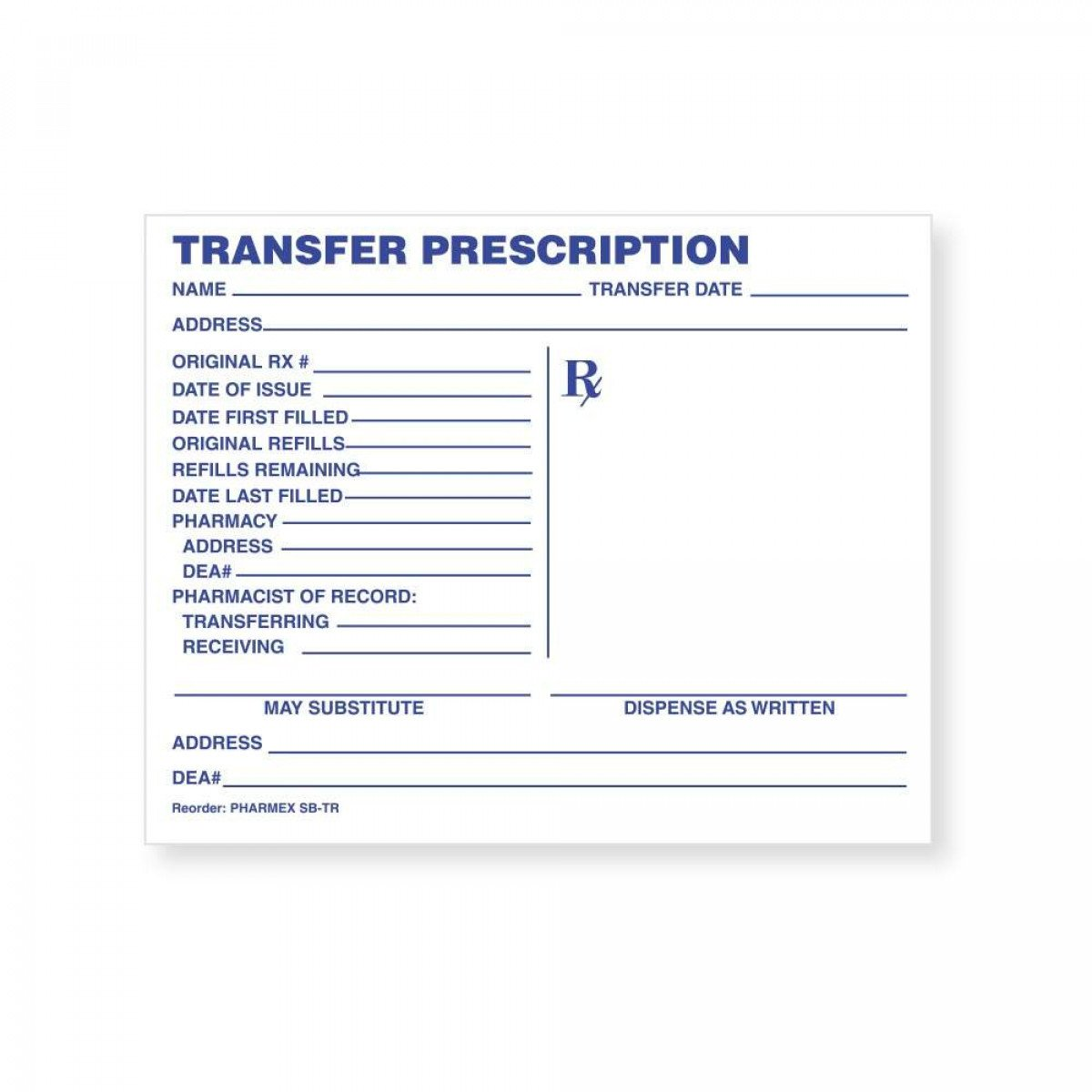 "Picture Of Prescription Pad Prescription Pad Paper 5"" X 4"" White 1000 Per Package"